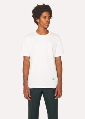 Paul Smith Men's White T-Shirt With Cherry Motif