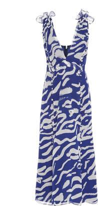 Prabal Gurung Printed Button-Detailed Silk Dress Size: 0