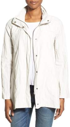 Eileen Fisher Organic Cotton Blend Hooded A-Line Jacket