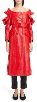 Simone Rocha Laminated Tweed Coat