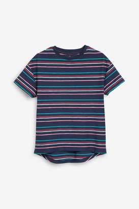 Next Girls Bright Pink Stripe T-Shirt (3-16yrs)