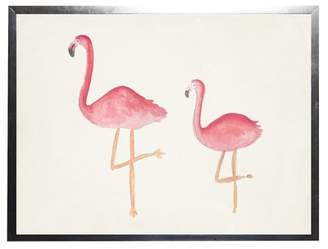 Flamingos Harriet Bee 'Flamingos' Framed Watercolor Painting Print