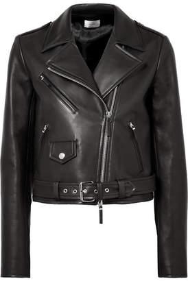 The Row Perlin Leather Biker Jacket - Black