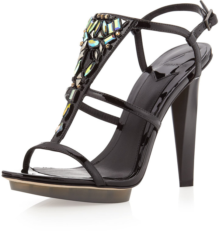 Brian Atwood B by Donosa Crystal Patent Sandal, Black