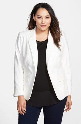 Vince Camuto One-Button Blazer (Plus Size) $165 thestylecure.com