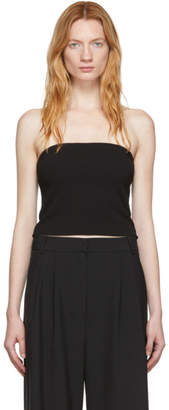 Tibi Black Structured Crepe Strapless Top