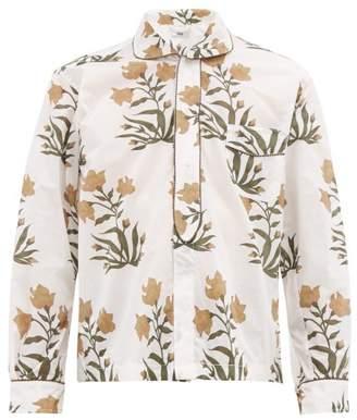 Bode - Havana Peter Pan Collar Cotton Shirt - Mens - White Multi