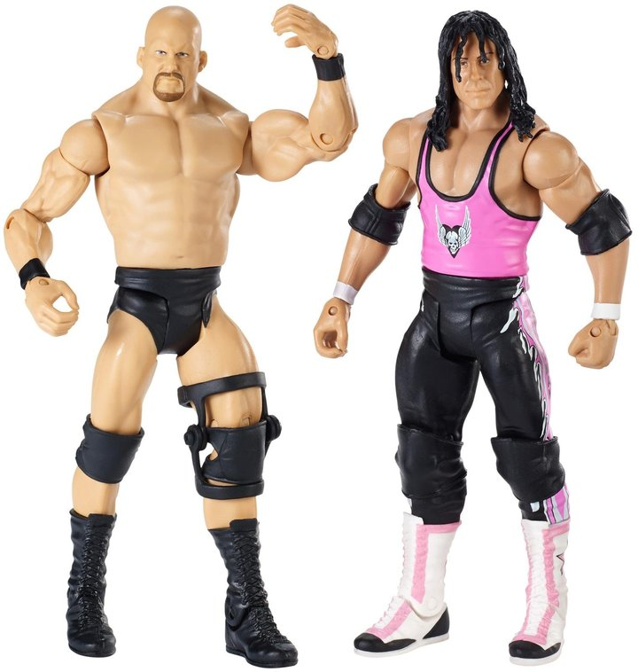 WWE Wrestlemania 32 Steve Austin and Bret Michaels 2-Pack Action Figure