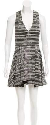Alice + Olivia Metallic Accent Plunge Dress