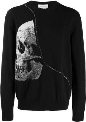 Alexander McQueen jacquard skull sweater