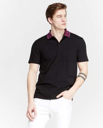 Versace Black Diamond Pique Polo