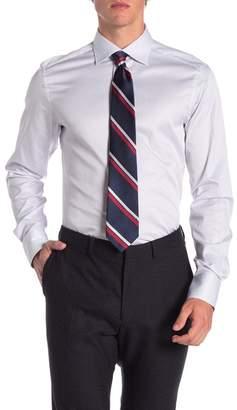 Ermenegildo Zegna Stripe Trim Fit Dress Shirt