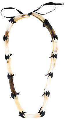 Marni Horn & Resin Chain Necklace