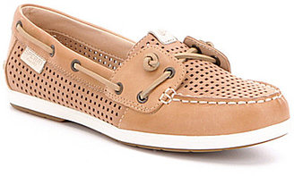 Sperry Coil Ivy Perforated Leather Slip-On Boat Shoes $90 thestylecure.com