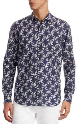 Saks Fifth Avenue COLLECTION Palm Tree Button-Down Shirt