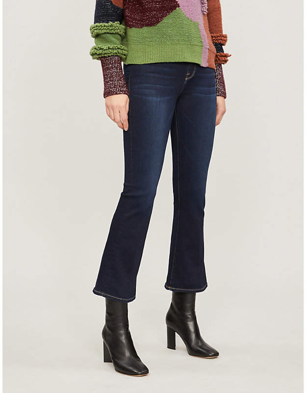 Le Crop Mini Boot mid-rise flared jeans