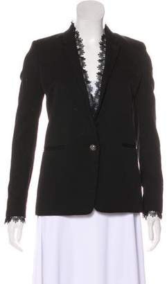 The Kooples Wool Lace-Trimmed Blazer