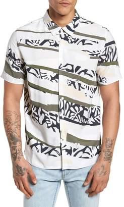 NATIVE YOUTH Tropi Camo Woven Shirt