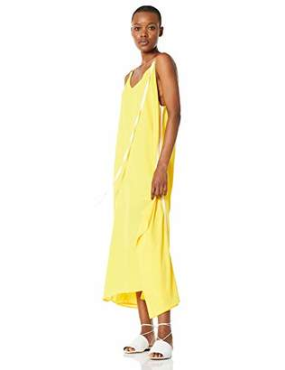 Elise Bloom Women's Boho V-Neck Spaghetti Strap Maxi Dress Sundress Baggy Oversized Sleeveless Beach Long Maxi Dress (
