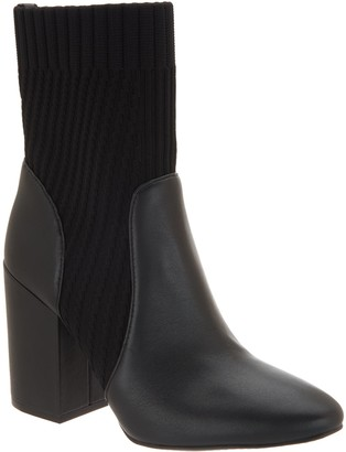 Vince Camuto Leather/Textile Ankle Boots - Diandra