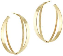 Lana Small Twist Flat Hoop Earrings