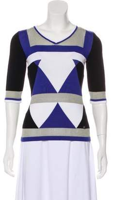 Versace Knit Patterned Top