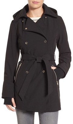 Jessica Simpson Double Breasted Soft Shell Trench Coat $180 thestylecure.com