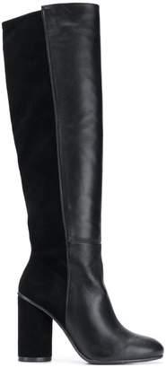 Stuart Weitzman asymmetric block heel boots