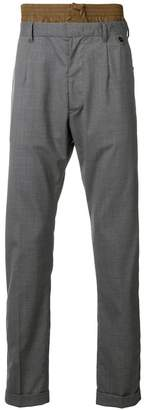 Prada Techno waist detail trousers