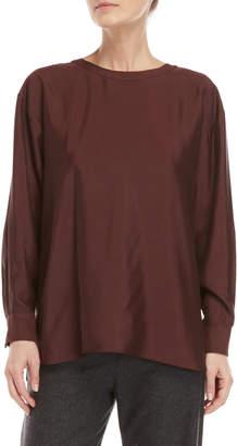 Hache Wine Long Sleeve Shirt