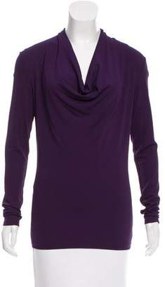 Michael Kors Cowl Neck Long Sleeve Top