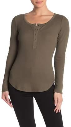 William Rast Kairah Snap Front Henley Shirt