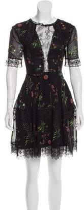 Nicholas Silk Floral Print Mini Dress w/ Tags