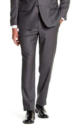 Calvin Klein Charcoal Pin-Dot Slim Fit Wool Suit Separate Pants