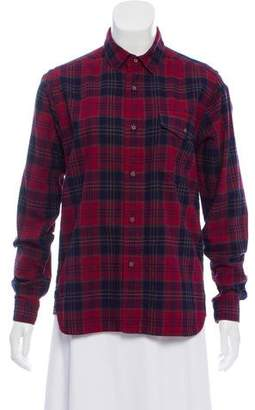 White Mountaineering Plaid Button-Up Top