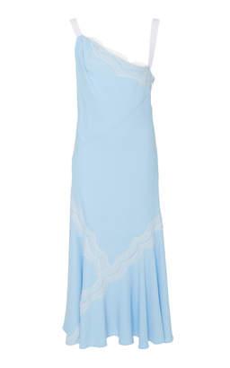 Prabal Gurung Diagonal Lace Patch Dress