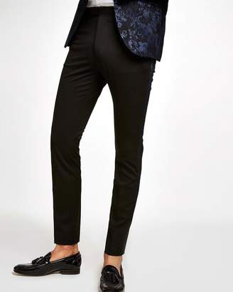 Topman Baroque Side Taping Skinny Suit Trousers