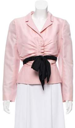 Valentino Long Sleeve Bow-Accented Blazer w/ Tags