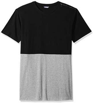 ROBUST Men's e Round Neck Side Zip Half Sleeve T-Shirt (Size-)