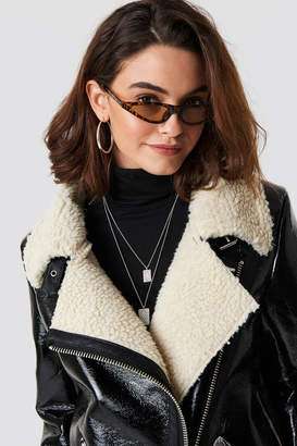 Cat Eye Emilie Briting X Na Kd Leopard cateye sunglasses Brown