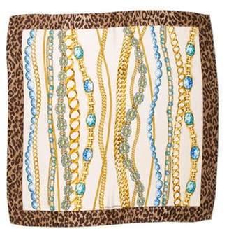 Dolce & Gabbana Silk Printed Scarf Beige Silk Printed Scarf