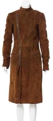 Ralph Lauren Purple Label Structured Suede Coat