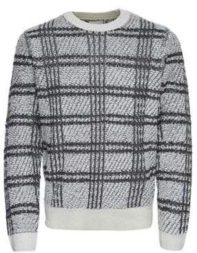 ONLY & SONS Plaid Jacquard Crewneck Sweater