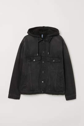 H&M Pile-lined Denim Jacket - Black