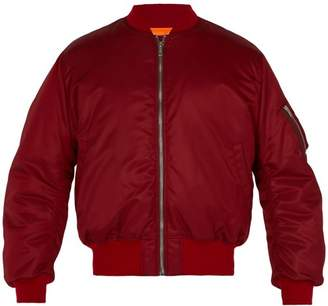 Calvin Klein Embroidered Padded Bomber Jacket - Mens - Red