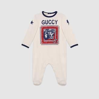 "Gucci (グッチ) - 〔ベビー〕""Guccy"" プリント スリープスーツ"