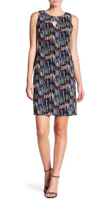 Nine West Printed Cutout Shift Dress