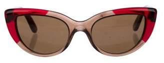 Bottega Veneta Cat-Eye Tinted Sunglasses