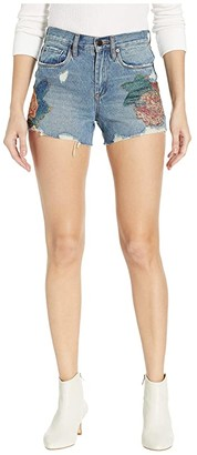 Blank NYC The Barrow High-Rise Floral Detail Shorts in Wild Flower