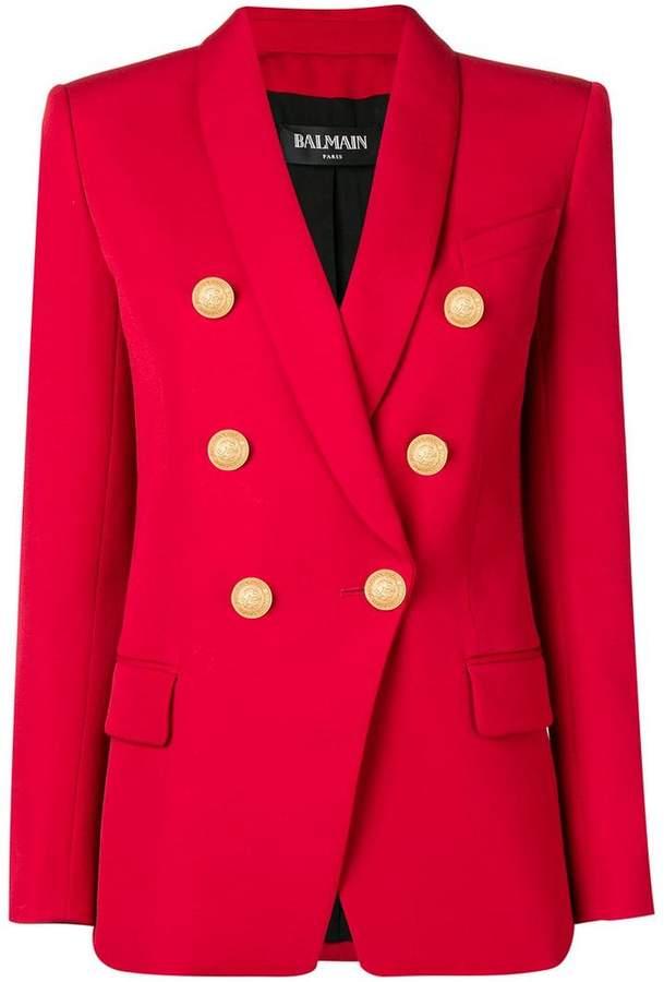 double buttoned blazer